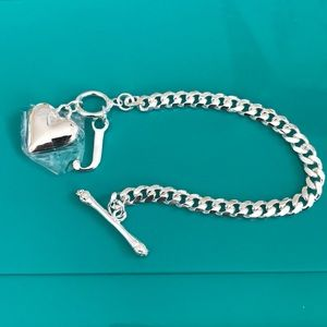 ❤️Silver toggle J bracelet new